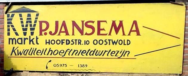 Naambord bord Jansema