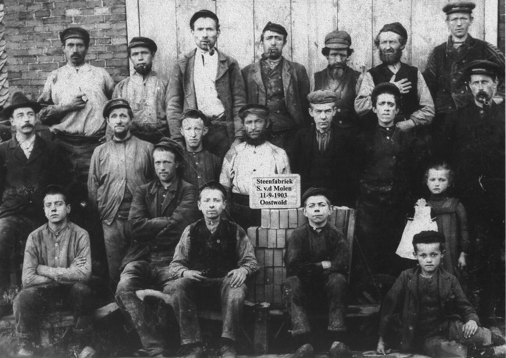 Steenfabriek 1903 personeel