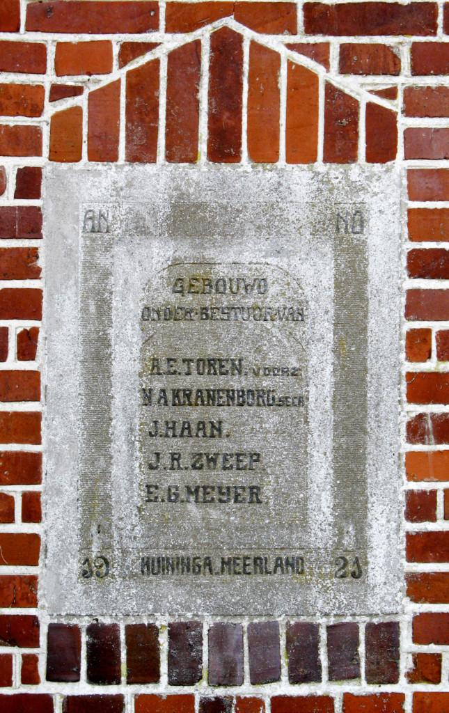 Huninga Meerland bestuur 1921